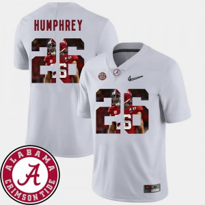 Football Marlon Humphrey Alabama Jersey White #26 Pictorial Fashion For Men 571062-854