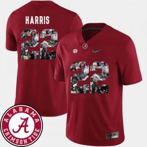 Najee Harris Alabama Jersey Football Pictorial Fashion Crimson #22 Men's 888303-253