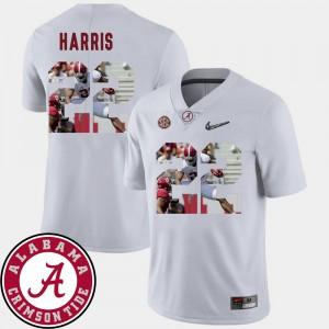 Najee Harris Alabama Jersey White Pictorial Fashion #22 Football For Men's 346686-334