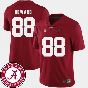 For Men 2018 SEC Patch Crimson #88 O.J. Howard Alabama Jersey College Football 185614-675