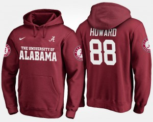 Crimson Men's #88 O.J. Howard Alabama Hoodie 679969-205