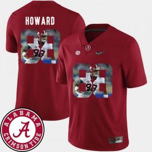 Pictorial Fashion Crimson Men #88 O.J. Howard Alabama Jersey Football 537983-729