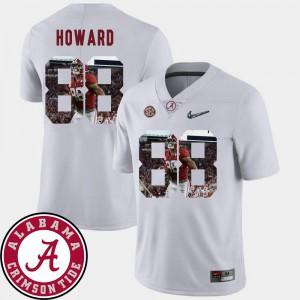 Football Pictorial Fashion White #88 Men O.J. Howard Alabama Jersey 256642-959