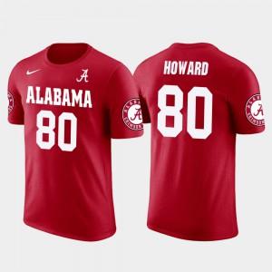 Red #80 Tampa Bay Buccaneers Football Future Stars O.J. Howard Alabama T-Shirt Men 620281-861
