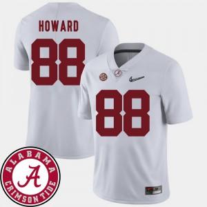 College Football #88 O.J. Howard Alabama Jersey Men White 2018 SEC Patch 353114-781