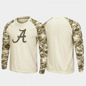 Oatmeal Alabama T-Shirt Raglan Long Sleeve Desert Camo OHT Military Appreciation Mens 741592-451