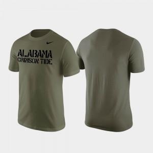 Olive Alabama T-Shirt For Men Stencil Wordmark 973432-702