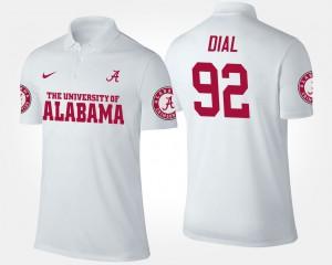#92 Quinton Dial Alabama Polo Men's White 297408-851
