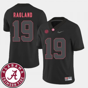 #19 For Men College Football Black 2018 SEC Patch Reggie Ragland Alabama Jersey 276450-915