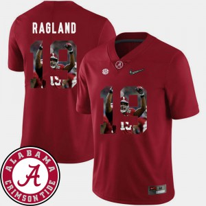 #19 Reggie Ragland Alabama Jersey Pictorial Fashion Men's Football Crimson 912967-646