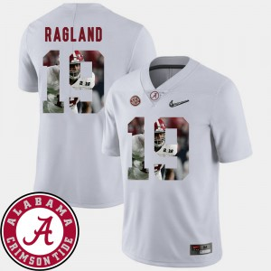 Pictorial Fashion Men's #19 Football White Reggie Ragland Alabama Jersey 792812-154