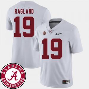 White 2018 SEC Patch Reggie Ragland Alabama Jersey For Men's College Football #19 775116-496