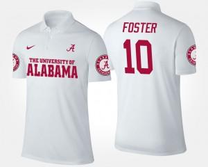 #10 For Men White Reuben Foster Alabama Polo 709278-210