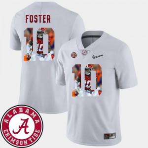 Men #10 Pictorial Fashion White Reuben Foster Alabama Jersey Football 942627-597