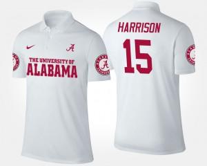 Men White #15 Ronnie Harrison Alabama Polo 861263-650