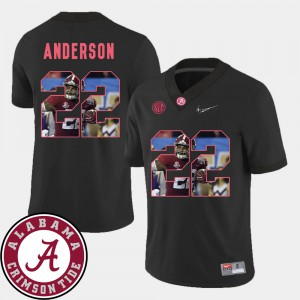 Pictorial Fashion Ryan Anderson Alabama Jersey #22 Football Black For Men 565600-403