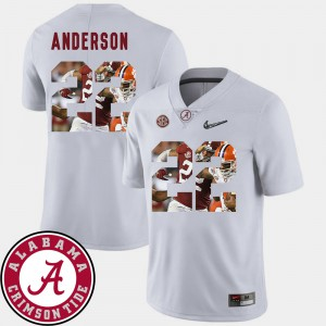 Pictorial Fashion For Men Football #22 White Ryan Anderson Alabama Jersey 222302-504