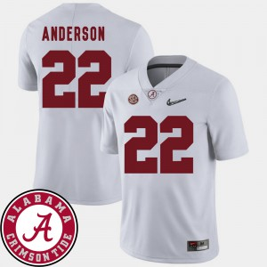 Ryan Anderson Alabama Jersey Men White #22 2018 SEC Patch College Football 649857-898