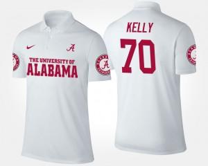 Mens White Ryan Kelly Alabama Polo #70 801540-844