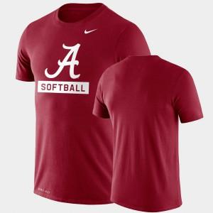 Drop Legend Performance Softball Alabama T-Shirt Mens Crimson 975520-297