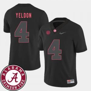 #4 2018 SEC Patch Black T.J. Yeldon Alabama Jersey For Men College Football 304826-385