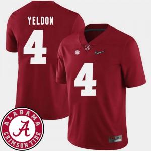 Mens 2018 SEC Patch T.J. Yeldon Alabama Jersey Crimson #4 College Football 944029-754