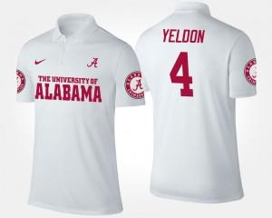 T.J. Yeldon Alabama Polo White #4 Men's 679974-768
