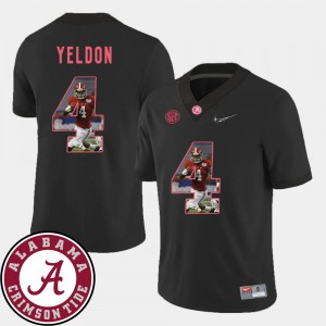T.J. Yeldon Alabama Jersey Football Black Mens Pictorial Fashion #4 908585-883