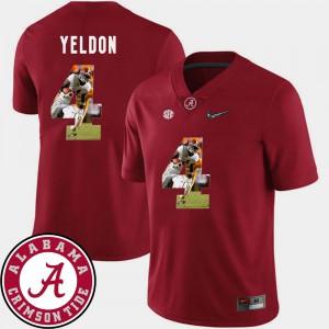 #4 T.J. Yeldon Alabama Jersey Men Pictorial Fashion Crimson Football 267433-224