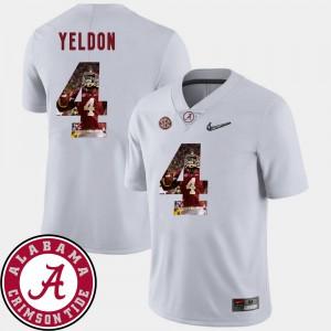 Men Pictorial Fashion #4 Football White T.J. Yeldon Alabama Jersey 781366-200