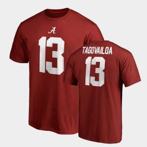College Legends For Men's Name & Number Tua Tagovailoa Alabama T-Shirt Crimson #13 609687-469