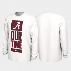 Alabama T-Shirt Men's White Our Time Bench Legend 2020 March Madness 333786-944