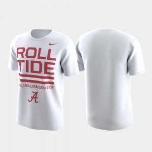Mens White Alabama T-Shirt Performance Local Verbiage 613386-933