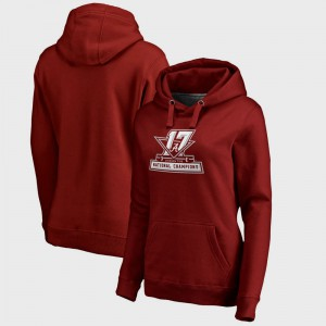 Crimson College Football Playoff 2017 National Champions Official Alabama Hoodie Women Bowl Game 780701-752