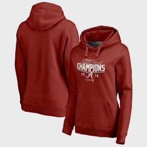Women Alabama Hoodie Crimson Bowl Game College Football Playoff 2018 Sugar Bowl Champions Goal 270117-974