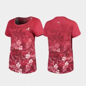 Ladies Floral Victory Tommy Bahama Alabama T-Shirt Crimson 940073-608