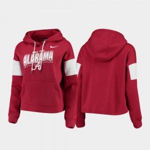 Pullover Women Local Crimson Alabama Hoodie 666882-316
