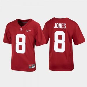 Alumni Football Julio Jones Alabama Jersey For Kids Replica Crimson #8 159494-372